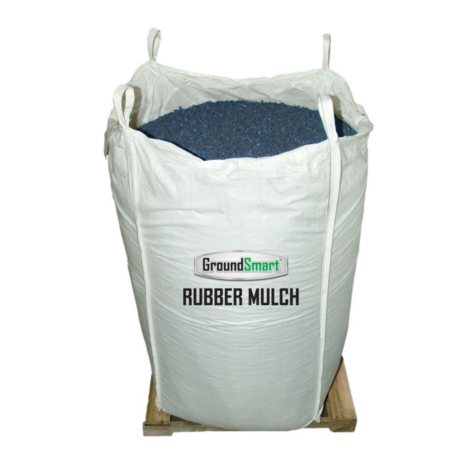 GroundSmart Rubber Mulch Blue 76.9 cu ft Super Sack (Assorted Sizes)