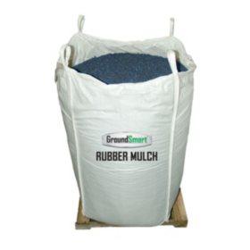 GroundSmart Rubber Mulch Blue 38.5 cuft SuperSack