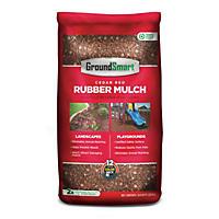 GroundSmart Rubber Mulch Cedar Red 78.4 cuft (98 Bags/.8cuft)