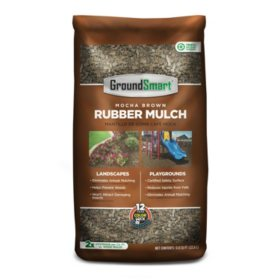 GroundSmart Rubber Mulch Mocha Brown 78.4 cuft (98 Bags/.8cuft)