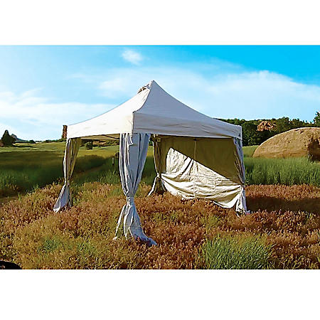 UnderCover 10'x10' Professional Craft Show Canopy with Clip-On Curtain Walls
