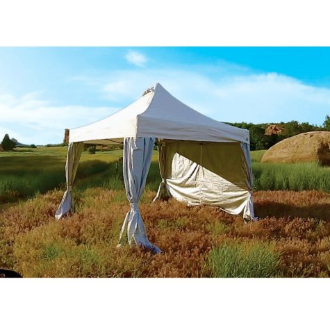 UnderCover 10' x 10' Commercial Plus Aluminum Instant Canopy with CRS Curtain-Wall Polyester Enclosure