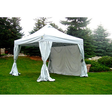 UnderCover 10u0027 x 10u0027 Commercial Vending Hybrid Aluminum Instant Canopy with Polyester Curtain-  sc 1 st  Samu0027s Club & UnderCover 10u0027 x 10u0027 Commercial Vending Hybrid Aluminum Instant ...