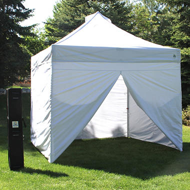 UnderCover 10u0027 x 10u0027 Commercial Instant Canopy with Zippered Wall Enclosure : 10 10 canopy - memphite.com