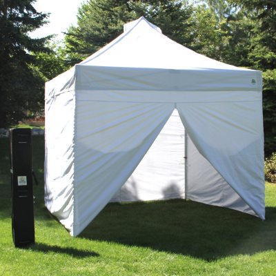 UnderCover 10u0027 X 10u0027 Commercial Instant Canopy With Zippered Wall Enclosure