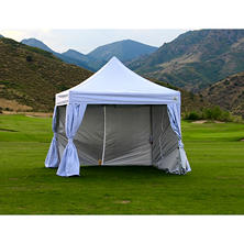 Pop-Up Canopy with Curtain Wall Enclosure - 10' x 10'