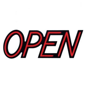"""Optiva 20"""" Ultra Bright LED OPEN Sign with Remote Control"""
