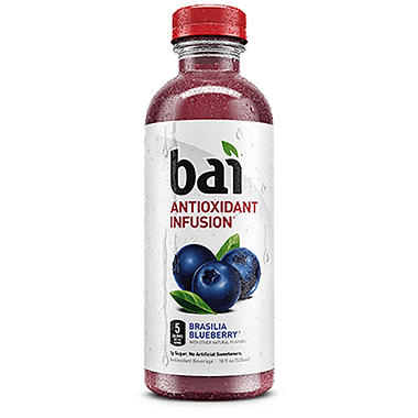 Bai Brasilia Blueberry Antioxidant Infused Beverage (20 oz. bottle)