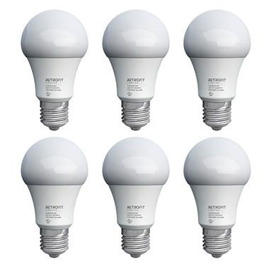 Retrofit Lighting A19 10 Watt LED Lightbulbs - 6 Pack