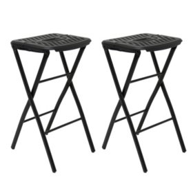 Mity Lite Flex One Folding Stool, Black - 2 pack
