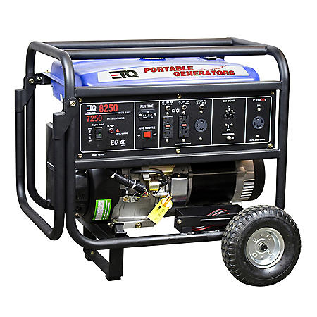 ETQ 8250 Watt Portable Gas Generator with Electric Start
