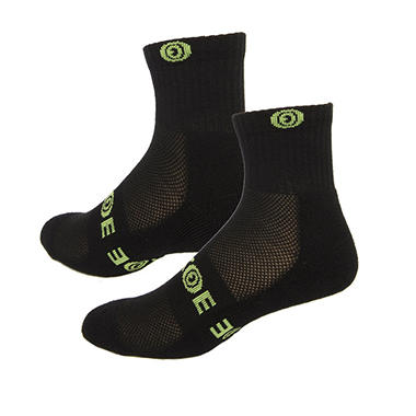 EEKOE Bamboo Sport Athletic 1/4 Crew Sock - 6-Pack (Assorted Colors/Sizes)