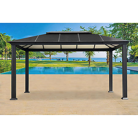 Santa Monica 11 x 16 Aluminum Hard Top Gazebo