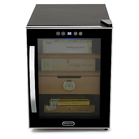 Whynter Elite Touch-Control 250-Cigar Cooler Humidor, Stainless Steel
