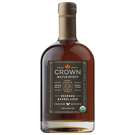 Crown Maple Bourbon Barrel Aged Organic Maple Syrup (25 oz.)