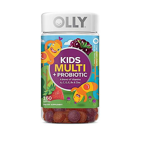 Olly Kids Multi + Probiotic Yum Berry Punch Vitamin Gummies (160 ct.)