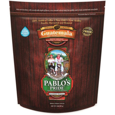 Pablo's Pride Gourmet Coffee, Whole Bean, Guatemala (2 lb.)