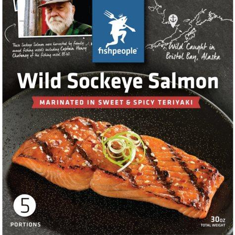Fishpeople Wild Sockeye Salmon (5 fillets)