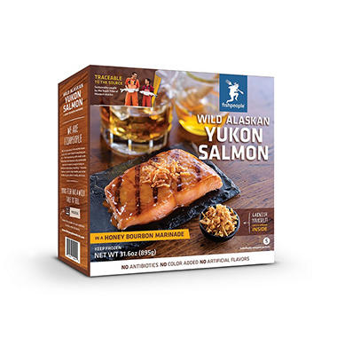 Fishpeople Wild Yukon River Honey Bourbon Salmon (5 pk., 31.6 oz.)