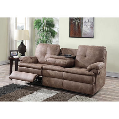 sams club living room furniture buck faux leather reclining sofa sam s club 18669