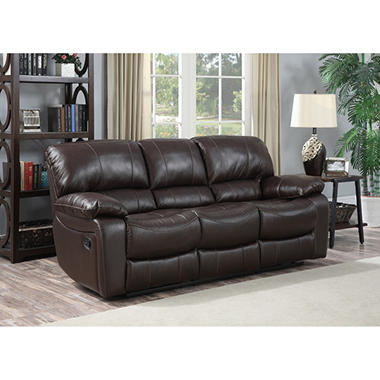 Redfield Leather Reclining Sofa Sams Club - Leather sofa reclining