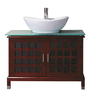 OVE Decors Jenna Vanity Tempered Glass Top