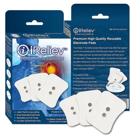 iReliev Patch Pads Refill Kit with 3 Electrodes