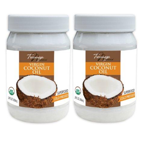 Tresomega Nutrition Organic Virgin Coconut Oil (29 oz., 2 ct.)