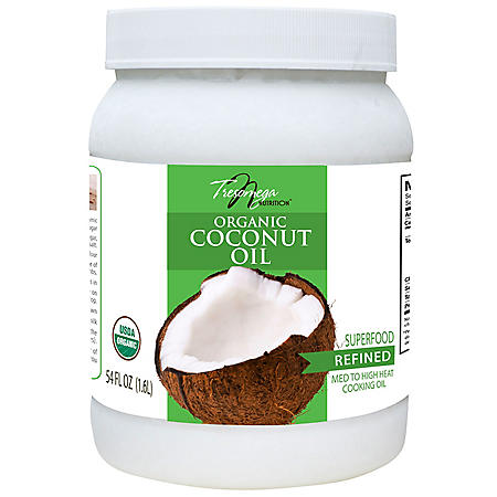 Tresomega Nutrition Organic Refined Coconut Oil (54 oz., 6 ct.)