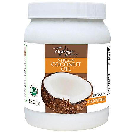 Tresomega Nutrition Organic Virgin Coconut Oil (54 oz., 6 ct.)
