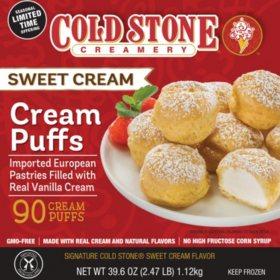 Cold Stone Creamery Sweet Cream Cream Puffs (39.6 oz., 90 ct.)