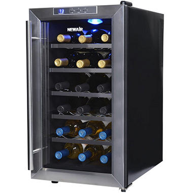 Merveilleux NewAir 18 Bottle Stainless Steel Wine Cooler