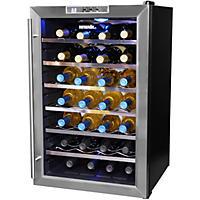 Wine Refrigerator Reviews Wine Spectator wine enthusiast 32-bottle dual-zone touchscreen wine cooler