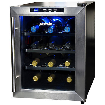 NewAir 12-Bottle Stainless-Steel Wine Cooler