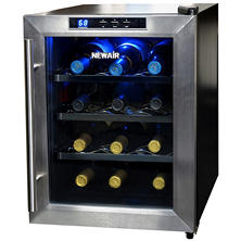 NewAir 12-Bottle Stainless Steel Wine Cooler