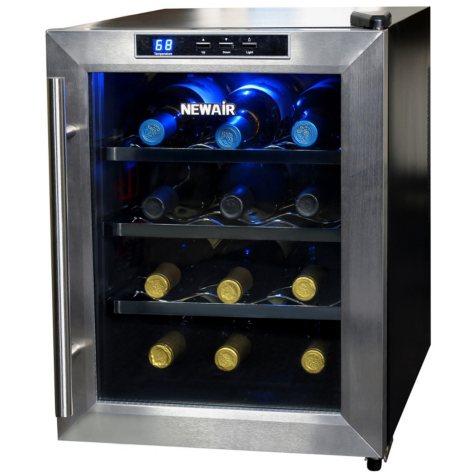 NewAir 12-Bottle Stainless Steel Wine Cooler