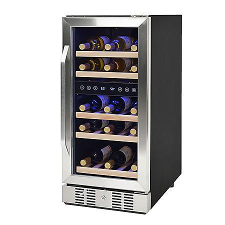 NewAir 29-Bottle Compact Compressor Wine Cooler (Silver)