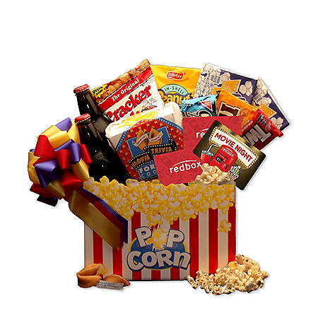 Movie Night Mania Gift Box with $10 Redbox Gift Card