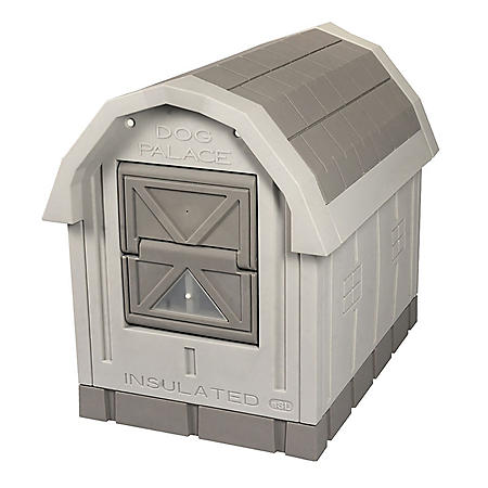 ASL Solutions Deluxe Insulated Dog Palace with Heater and Fleece Bed