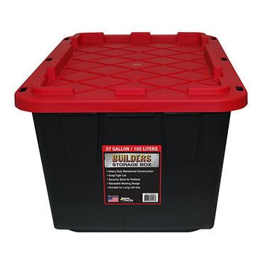Builders Storage Box 27 Gallon Builder Storage Box