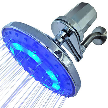 pure blue h2o filtered rain garden led shower head - Filtered Shower Head