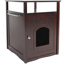 Zoovilla Cat Washroom/Night Stand Pet House, Espresso
