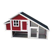 Zoovilla Habitat Chicken Coop, Red
