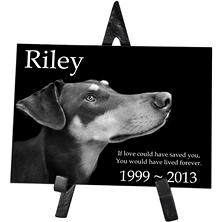 Memorial Gallery Marble Rectangle with Easel (Choose Your Size)