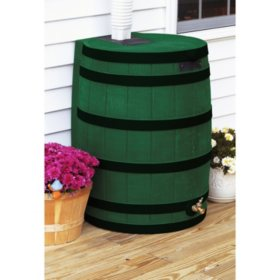 50-Gallon Darkened Ribs Rain Wizard Barrel, Assorted Colors