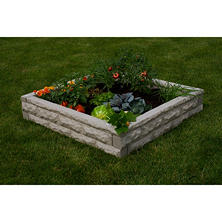 Self-Watering Garden Wizard Raised Garden Bed, Sandstone