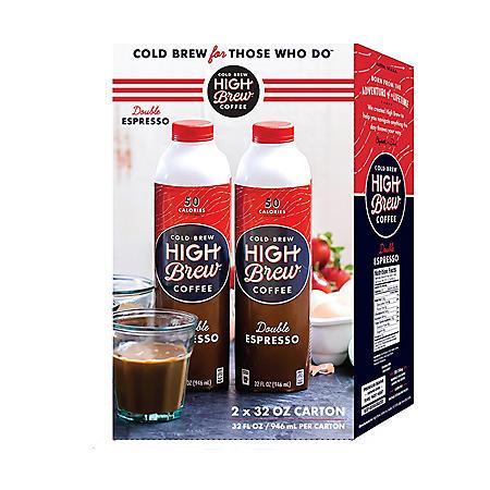 Cold Brew Coffee, Double Espresso (32 oz., 2 ct.)