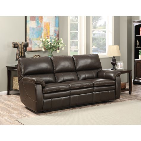 Crawford Top-Grain Leather Reclining Sofa