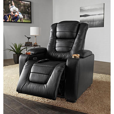 Paxton Power Theater Recliner with Power Adjustable Head Rest & Paxton Power Theater Recliner with Power Adjustable Head Rest ...