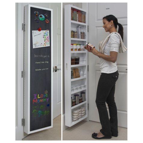 Cabidor Classic Deluxe: Chalkboard Behind-the-Door Storage Cabinet